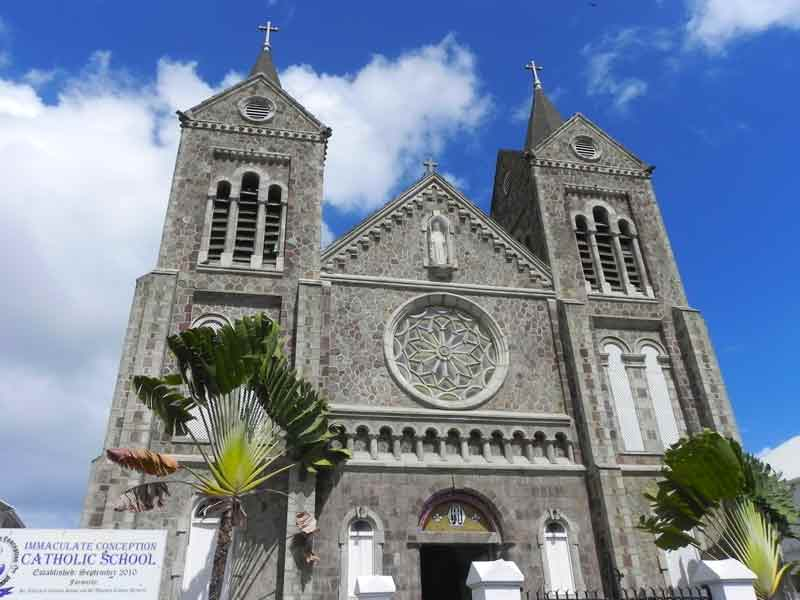 Photo of Immaculate Conception Catholic Co-Cathedral in Basseterre, St. Kitts.