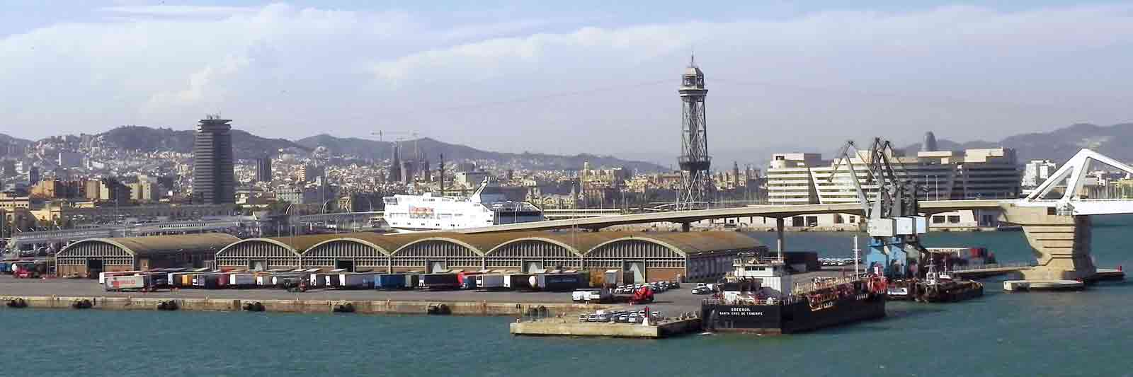 Panoramic Photo of Barcelona Cruise Ship Port