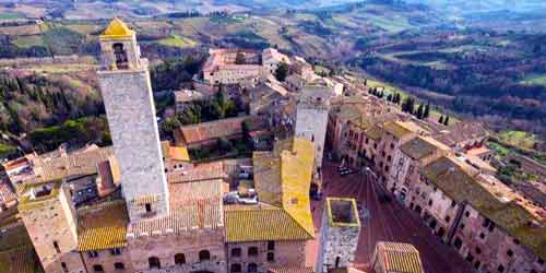 panoramic photo of San Gimignano in Italy