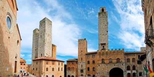 Panoramic Photo of San Gimignano, Livorno Cruise Port Destination
