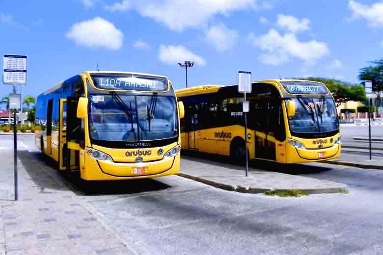 Foto do Terminal de Autocarros em Aruba