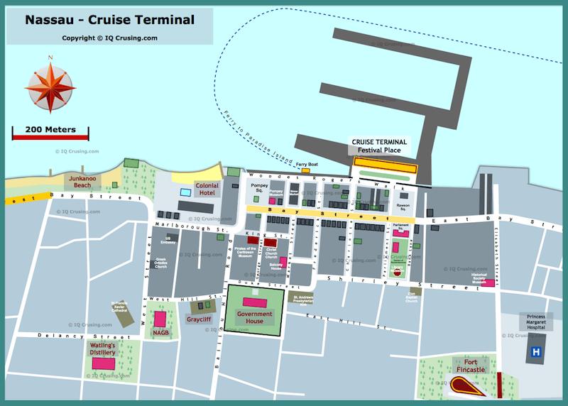 Nassau Cruise Port Map Nassau (Bahamas) Cruise Port Pier Terminal Review | IQCruising Nassau Cruise Port Map