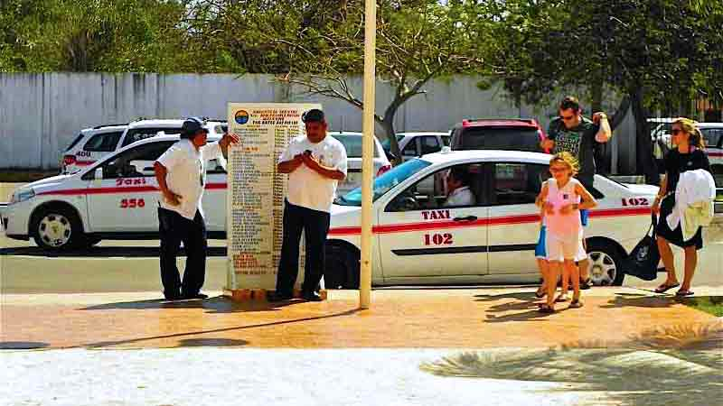 tipping taxi drivers in cozumel