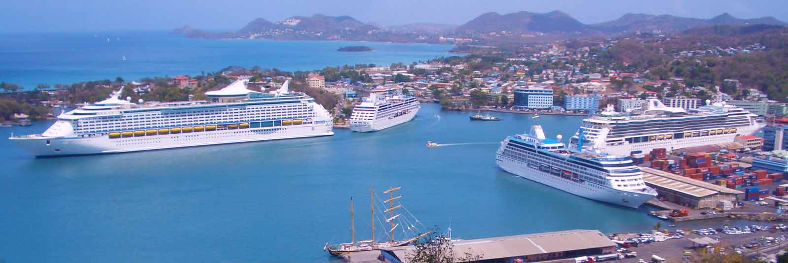 Image result for St Lucia cruise terminal