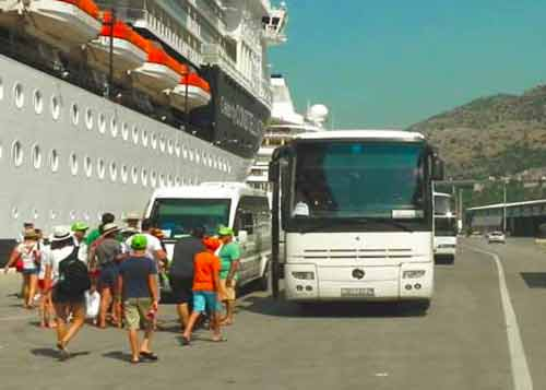 Photo of Buses At The Pier in Dubrovnik Cruise Port