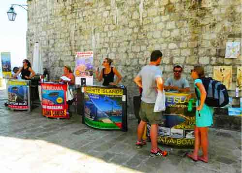 Photo of Tour Kiosks in Dubrovnik Cruise Port