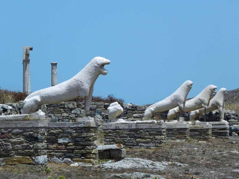 Photo of The Lions of the Naxians in Delos, Mykonos Cruise Port