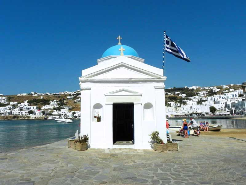 Photo of Church in Mykonos Cruise Port