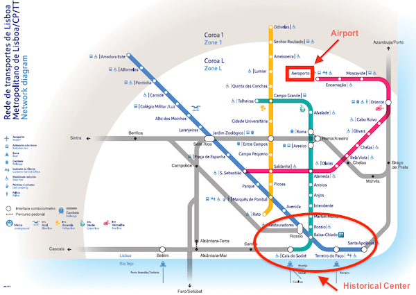 Subway Map Of Lisbon.Lisbon Portugal Cruise Port Guide Iqcruising